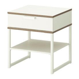 IKEA イケア TRYSIL ベッドサイドテーブル ホワイト ライトグレー b50355748