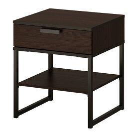 IKEA イケア TRYSIL ベッドサイドテーブル ダークブラウン ブラック b70355747