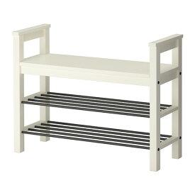 IKEA イケア HEMNES ベンチ 靴収納付き ホワイト d40243799
