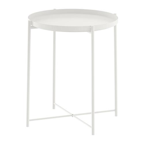 IKEA(イケア) GLADOM トレイテーブル ホワイト 50337820