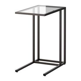 IKEA イケア VITTSJO ラップトップスタンド ガラス ブラックブラウン a80250250