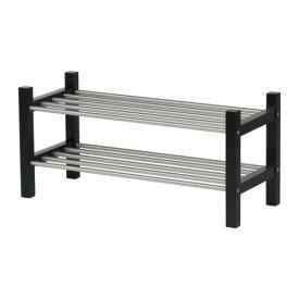 IKEA イケア TJUSIG シューズラック ブラック d90160956