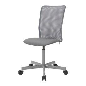IKEA イケア TOBERGET 回転チェア デスク用チェア ヴィースレ グレー z90392659