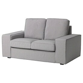 IKEA イケア KIVIK シーヴィク カバー 2人掛けコンパクトソファ用 オッルスタ ライトグレー z10393257【カバーのみ】