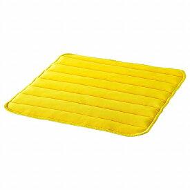IKEA イケア チェアパッド ブライトイエロー 37x37x1.8cm n10416602 HERDIS