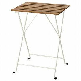 IKEA イケア テーブル 屋外用 ホワイト ライトブラウンステイン55x54cm n20444973 TARNO