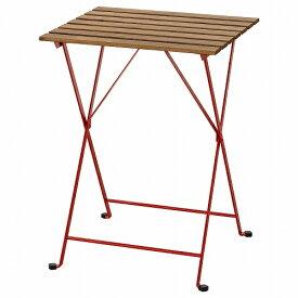 IKEA イケア テーブル 屋外用 レッド ライトブラウンステイン 55x54cm n40424573 TARNO