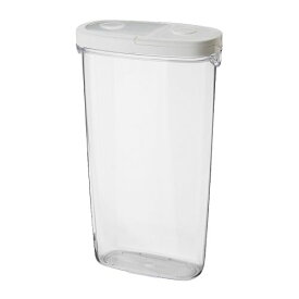 IKEA イケア IKEA 365+ 乾燥食品用容器 ふた付き 透明 ホワイト 70134020