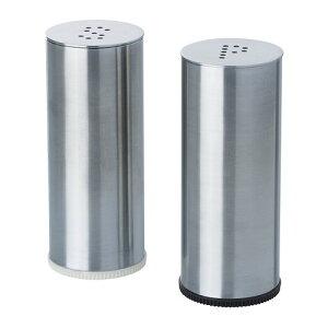 IKEA イケア PLATS 塩コショウ入れ2点セット ステンレススチール d10233674