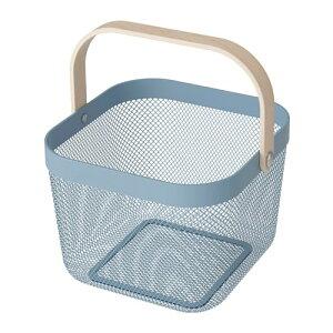 IKEA イケア バスケット ブルー z70480534 RISATORP