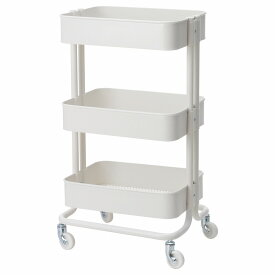 IKEA イケア RASKOG ロースコグ ワゴン ホワイト 白 キッチンワゴン z70376721