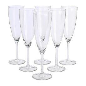 IKEA イケア SVALKA シャンパングラス 210ml 6脚セット クリアガラス d80137805