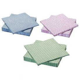 IKEA イケア ENTUSIASM 紙ナプキン アソートカラー n00438987