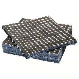 IKEA イケア URLADDA 紙ナプキン ブラック/ホワイト n60415902