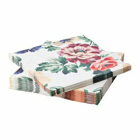IKEA イケア SMAKSINNE 紙ナプキン マルチカラー フラワー n40478815