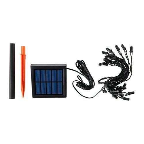 IKEA(イケア) SOLARVET LEDライトチェーン 全24球 屋外用 太陽電池式 10299641