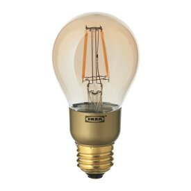 IKEA イケア LED電球 E26 400ルーメン 調光器対応 球形 ブラウンクリアガラス E70345027 LUNNOM
