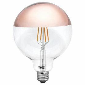 IKEA イケア LED電球 E26 370ルーメン 球形 ミラートップ ロゼゴールドカラー 125mm n30411806 SILLBO