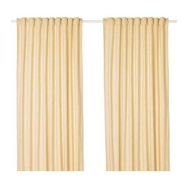 IKEA イケア カーテン 長さ250cm×幅145cm 1組 イエロー z10396736 TIBAST