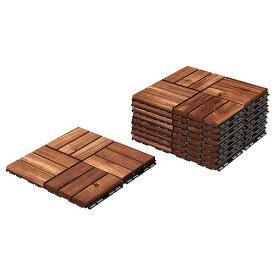 IKEA イケア RUNNEN フロアデッキ 屋外用 / 9 ピース ブラウンステイン a30234229