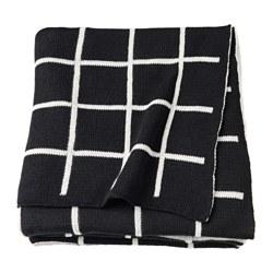 IKEA(イケア) ALMALIE ひざ掛け ブラック ホワイト z90352253