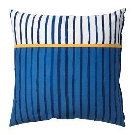 IKEA イケア クッション ストライプ ブルー オレンジ SANGLARKA n60427014