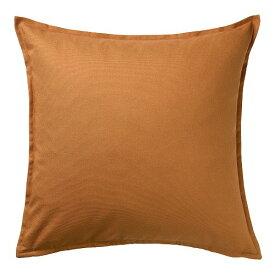 IKEA イケア クッションカバー ブラウンイエロー 50x50cm n60479183 GURLI