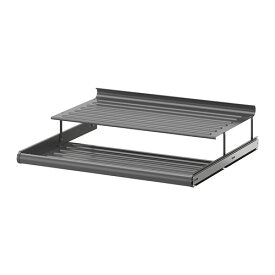IKEA イケア KOMPLEMENT 引き出し式シューズシェルフ ダークグレー a10257472