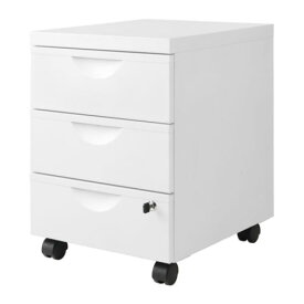 IKEA イケア ERIK 引き出しユニット(引き出し×3) キャスター付き ホワイト d30176069
