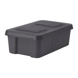 IKEA(イケア) KLAMTARE クレムターレ ふた付きボックス 室内/屋外用 ダークグレー z30292361