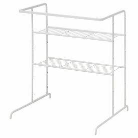 IKEA イケア シェルフユニット ハンガーレール付き ホワイト 白 RASSLIG z40377369