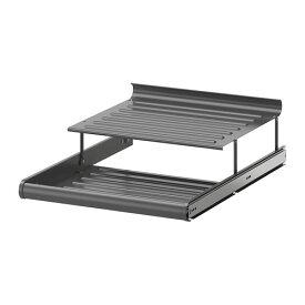 IKEA イケア KOMPLEMENT 引き出し式シューズシェルフ ダークグレー a50257470