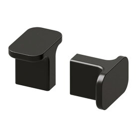 IKEA イケア HACKAS ノブ / 2 ピース チャコール b50342483