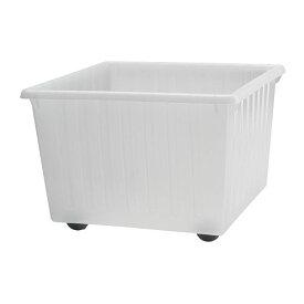 IKEA イケア 収納クレート キャスター付 ホワイト 白 39x39cm c70104462 VESSLA