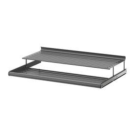 IKEA イケア KOMPLEMENT 引き出し式シューズシェルフ ダークグレー a90257468