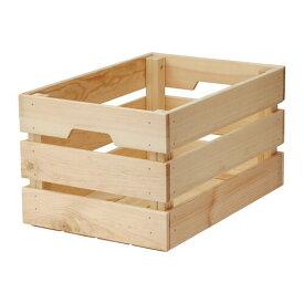 IKEA イケア KNAGGLIG ボックス パイン材 d90292358