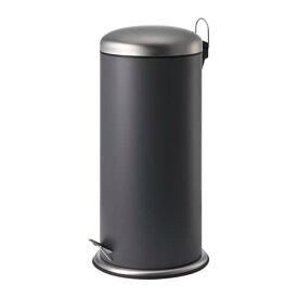 IKEA イケア MJOSA ミョーサ ペダル式ゴミ箱 ダークグレー 30L z70422855