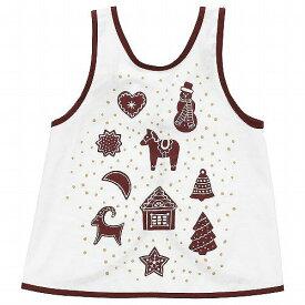 IKEA イケア 子ども用エプロン ジンジャーブレッド模様 ホワイト ブラウン n80472699 VINTER 2020 クリスマス
