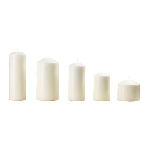 IKEA(イケア) FENOMEN 香りなしブロックキャンドル5個セット ナチュラル 10377945