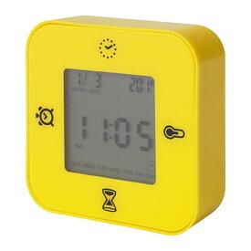 IKEA イケア KLOCKISクロッキス 時計/温度計/アラーム/タイマー イエロー z00384828