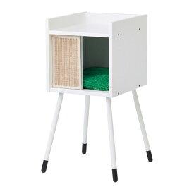IKEA イケア LURVIGキャットハウス 脚/クッション付き ホワイト グリーン z09240185