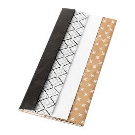 IKEA イケア GIVANDE ジーヴァンデ ギフト包装用薄紙 ブラック ナチュラル ホワイト z40348273