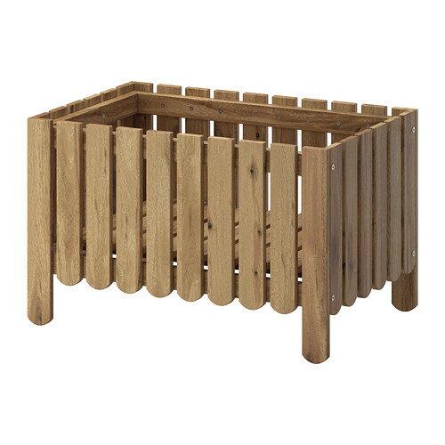 IKEA(イケア) ASKHOLMEN アスクホルメン フラワーボックス グレーブラウンステイン グレーブラウン z50258672