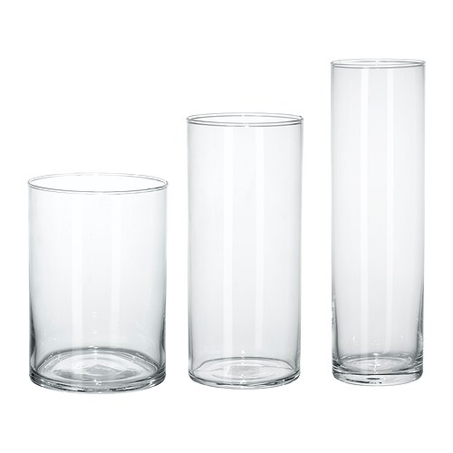 IKEA(イケア) CYLINDER 花瓶 3点セット クリアガラス d60175214