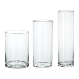 IKEA イケア CYLINDER 花瓶 3点セット クリアガラス d60175214