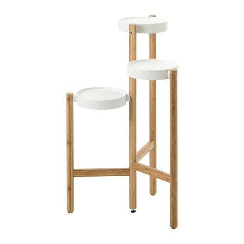 IKEA(イケア) SATSUMAS プラントスタンド 竹 ホワイト d60294962