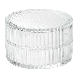 IKEA イケア SAMMANHANG ガラスのボックス ふた付き クリアガラス サイズ8 cm n50415752