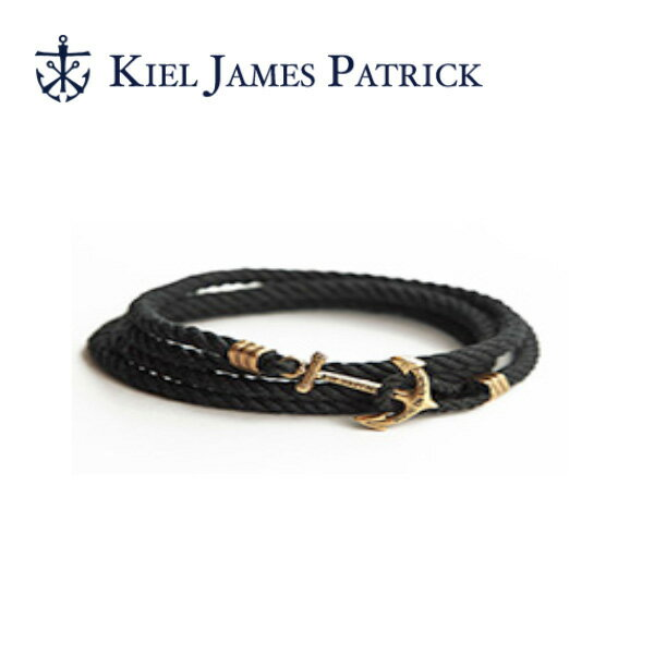 即日発送 キールジェイムスパトリック KIEL JAMES PATRICK ロープ ブレスレット Lanyard Hitch Collection BLACK PEARL(BLK) LH-946-001