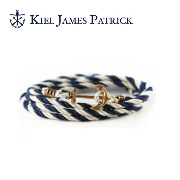 即日発送 キールジェイムスパトリック KIEL JAMES PATRICK ロープ ブレスレット Lanyard Hitch Collection PETER WENCE(NVY/WHT) LH-902-401