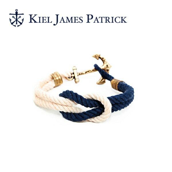 即日発送 キールジェイムスパトリック KIEL JAMES PATRICK ロープ ブレスレット Triton Collection NORTHERN LIGHT(WHT/NVY) TC-1299-107